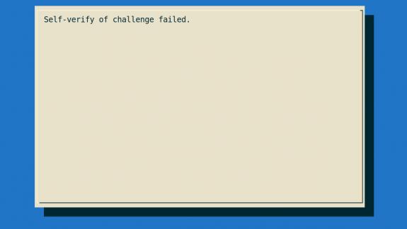 Failure message